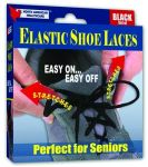 Shoe Laces Elastic Black 30