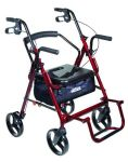 Duet Rollator/Transport Chair Burgundy